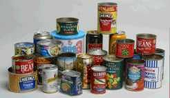 Food cans contain bisphenol A (BPA)