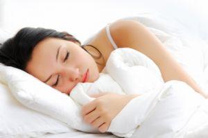 Woman with sleep problems