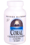 Source Naturals Coral Calcium with Magnesium -- 90 Tabs