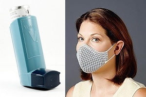 Asthma Inhaler and Multiple Chemical Sensitivity Mask