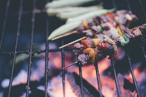 Close up of a BBQ