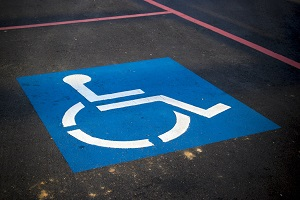 Blue Disabled Parking Space