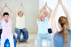 Elderly persons exercise class