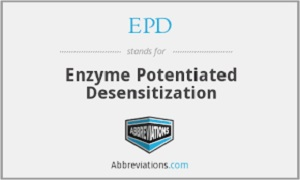 Enzyme Potentiated Desensitization (EPD)