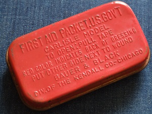 Vintage first aid packet