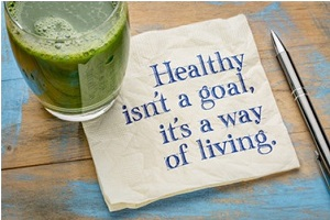 Healthy Living Napkin Quote