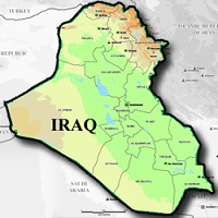 Geographical Map of Iraq