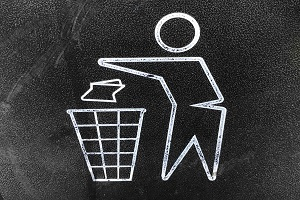 Litter Bin Sign