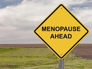 Road sign reading 'Menopause Ahead'