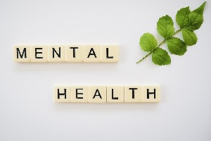 Mental Health Spelled Out With Blocks