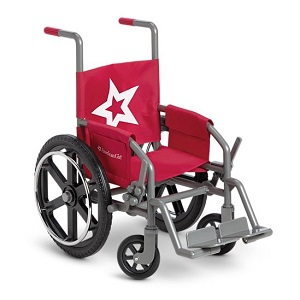Stylish red wheelchair with star decal