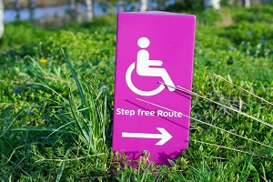 Step Free Route Sign for Wheelchair Users