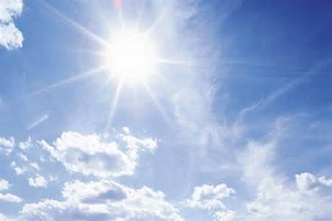 "Bright sunlight increases levels of serotonin - the ""happy"" brain chemical"
