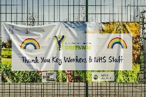 Thank You Key Workers Sign