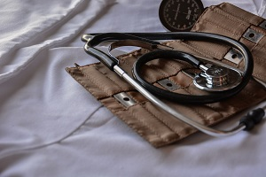 A traditional stethoscope