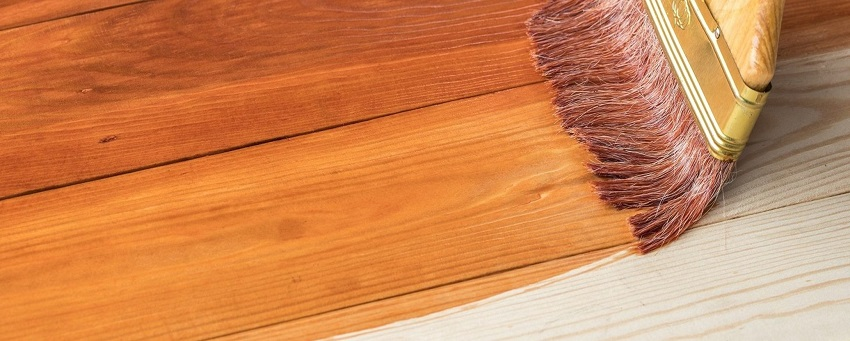 Deck Stain Applied With Brush